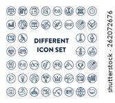 different line icon set. 40 ...