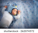 4 Month Old Baby In Owl Hat...
