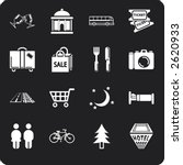 tourist locations icon set icon ... | Shutterstock .eps vector #2620933