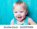 Smiling Emotional Baby Portrai...