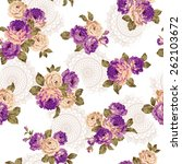 pattern of rose  | Shutterstock .eps vector #262103672