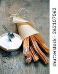 churros with sugar   Shutterstock . vector #262107062