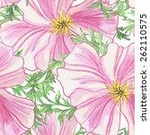 floral background. pink... | Shutterstock .eps vector #262110575