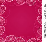 happy easter frame | Shutterstock .eps vector #262111316