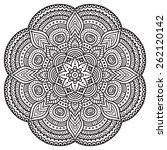 mandala. ethnic decorative... | Shutterstock .eps vector #262120142