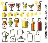beverage vector thin line...   Shutterstock .eps vector #262123355