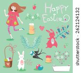 cute illustration's set with... | Shutterstock .eps vector #262124132