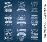 Denim Jeans White Typography...