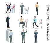successful businessman peak...   Shutterstock .eps vector #262125638
