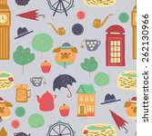 cute background pattern with... | Shutterstock .eps vector #262130966