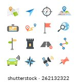 collection of navigation icons  ... | Shutterstock .eps vector #262132322