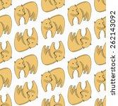 Bear Seamless Pattern. Vector...