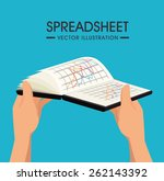 spreadsheet design over blue... | Shutterstock .eps vector #262143392