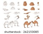 set of sketch objects for game... | Shutterstock .eps vector #262153085