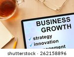 tablet with words business...   Shutterstock . vector #262158896