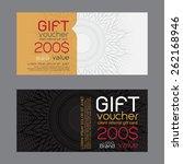 gift voucher template. | Shutterstock .eps vector #262168946