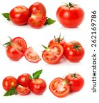 Collection Of Tomatoes Isolate...