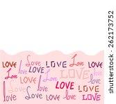 love frame | Shutterstock .eps vector #262173752