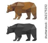 Bear. Abstract Polygonal...