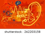 business abstract   listen to... | Shutterstock . vector #262203158