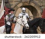 actors wearing stuart era... | Shutterstock . vector #262205912
