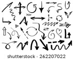 collection of hand drawn doodle ... | Shutterstock .eps vector #262207022