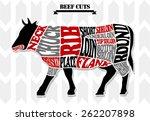 beef chart 2 | Shutterstock .eps vector #262207898