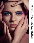 beauty portrait of young women... | Shutterstock . vector #262210652