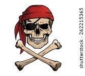 pirate skull and crossbones ...   Shutterstock . vector #262215365