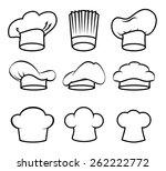 restaurant design over white... | Shutterstock .eps vector #262222772