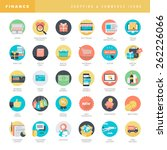 set of flat design icons for... | Shutterstock .eps vector #262226066