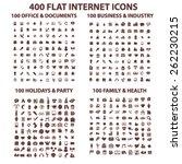 400 flat internet  business ... | Shutterstock .eps vector #262230215