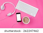 high angle view of white...   Shutterstock . vector #262247462