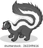 skunk vector cartoon... | Shutterstock .eps vector #262249616