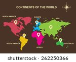 continents of the world ... | Shutterstock .eps vector #262250366