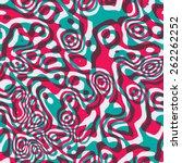 psychedelic seamless acid... | Shutterstock .eps vector #262262252
