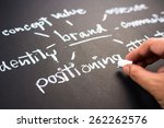 hand writing business branding... | Shutterstock . vector #262262576
