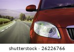 fast car on the highway. | Shutterstock . vector #26226766