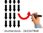 different thinking concept | Shutterstock . vector #262267868