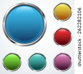 set o buttons  | Shutterstock .eps vector #262282106