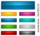 set o buttons  | Shutterstock .eps vector #262282112