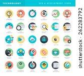 set of flat design icons for... | Shutterstock .eps vector #262283792