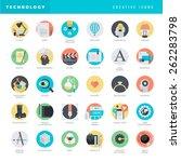 set of flat design icons for...   Shutterstock .eps vector #262283798
