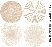 vector tree rings background... | Shutterstock .eps vector #262287416