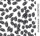 seamless with black feathers  | Shutterstock .eps vector #262287452