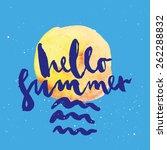 summer card. illustration....   Shutterstock .eps vector #262288832