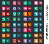 flat game icons buttons icons ...