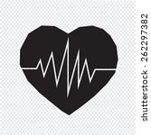 heartbeat icon | Shutterstock .eps vector #262297382
