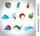 abstract web icons set | Shutterstock .eps vector #262302212