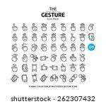 50 vector line icons set for... | Shutterstock .eps vector #262307432